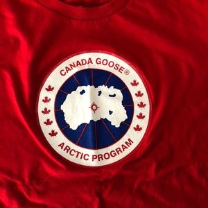 canada goose t shirt red